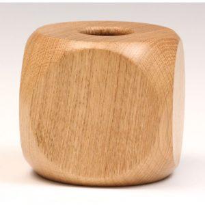 Oak dice hollow form