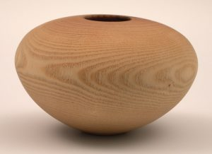 Sandblasted ash hollow form