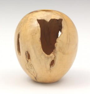 Box wood hollow form with natural voids