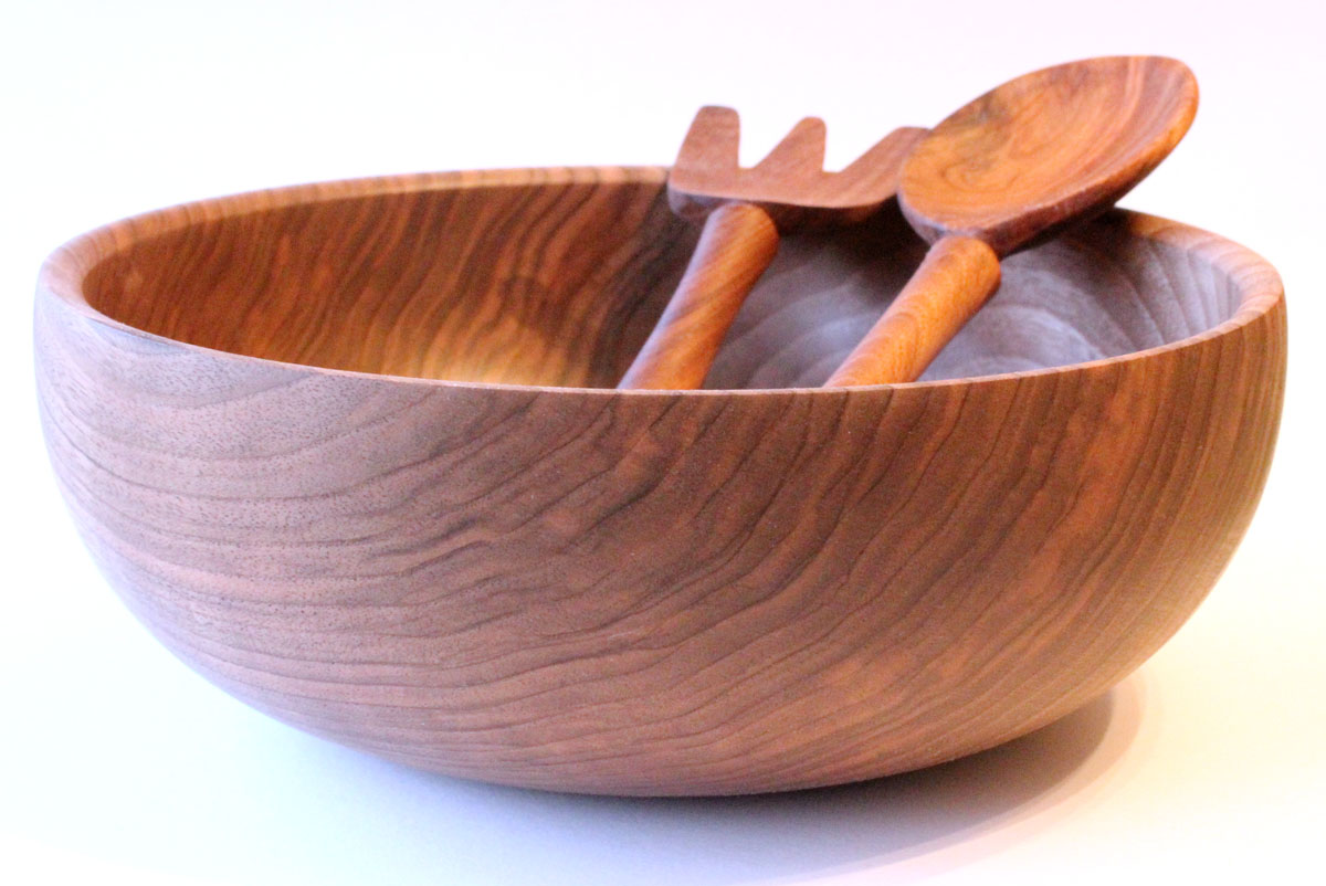Turned wooden salad bowls creative woodturning