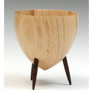 Chestnut three legged bowl
