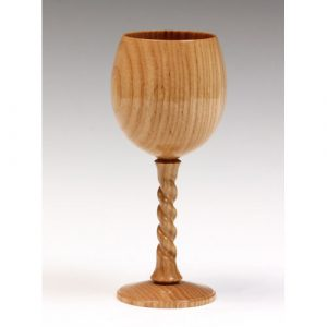 Ash goblet with twist stem