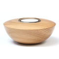 Oak domed tea light