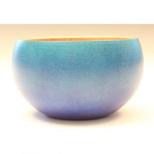 Oak blue and purple textured and coloured bowl