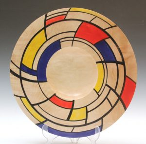 Mondriale 2 platter by Paul Hannaby Creative Woodturner