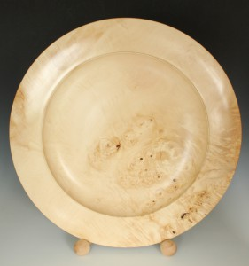 Horse chestnut burr platter