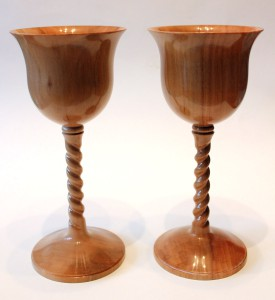 Apple goblets with twist stems
