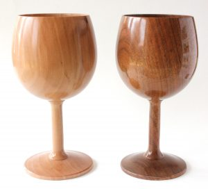 Apple and walnut goblets