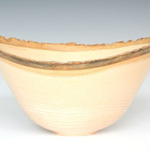 Ash natural edge bowl