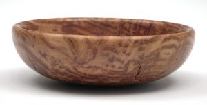 Brown oak burr bowl