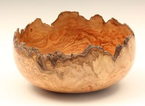 Elm burr natural edge bowl