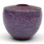 Masur birch hollow form. Purple, turquoise and blue