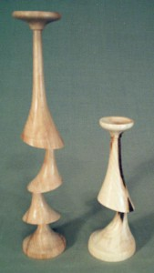 Off centre candlesticks