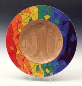 Rainbow ash platter