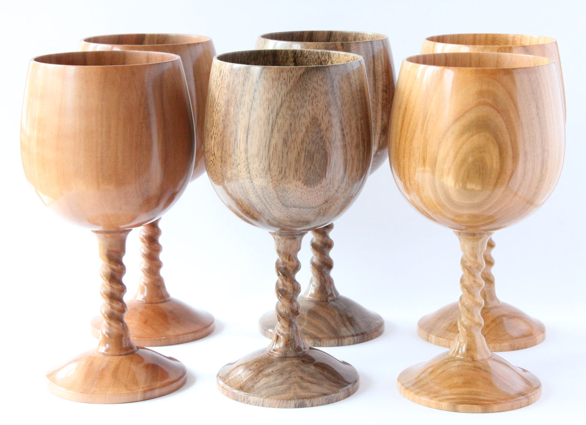 Turned Wooden Goblets Creative Woodturning