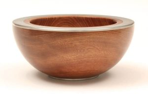 Tasmanian blackwood and pewter bowl