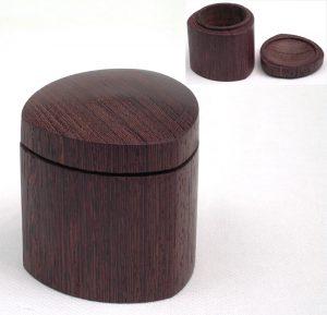 Three sided wenge box