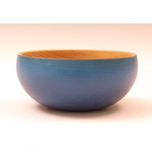 Oak textured coloured bowl purple blue