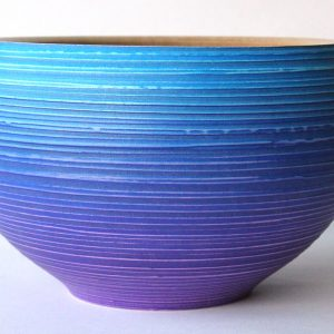 Textured coloured bowl purple blue