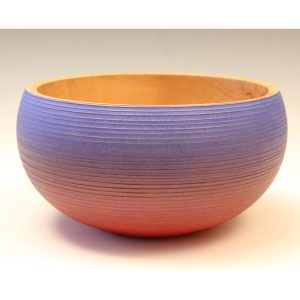 Coloured sycamore bowl by Paul Hannaby