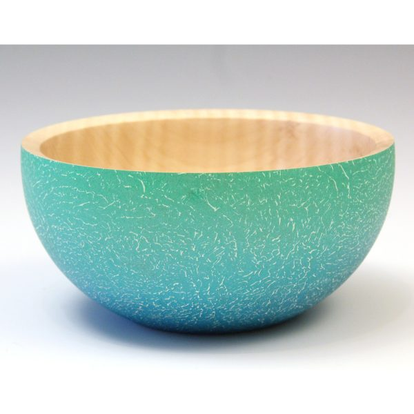 Coloured sycamore bowl, turned by Paul Hannaby