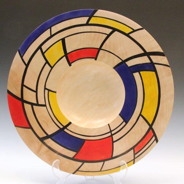 Horse chestnut coloured Mondrian platter by Paul Hannaby