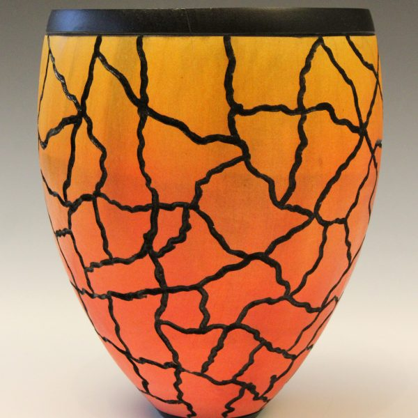Coloured horse chestnut vessel by Paul Hannaby