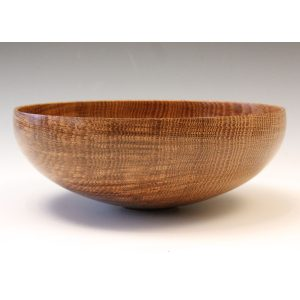 Brown oak bowl, turned by Paul Hannaby