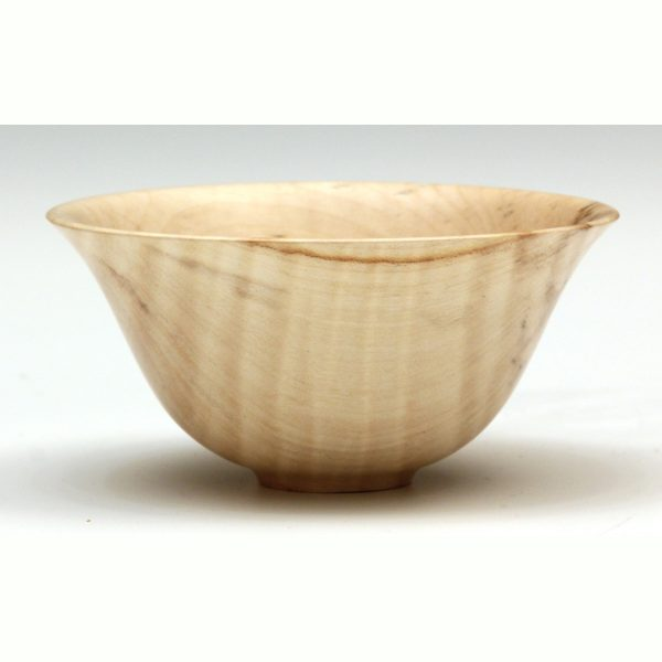 Rippled sycamore ogee bowl by Paul Hannaby Creative Woodtuner