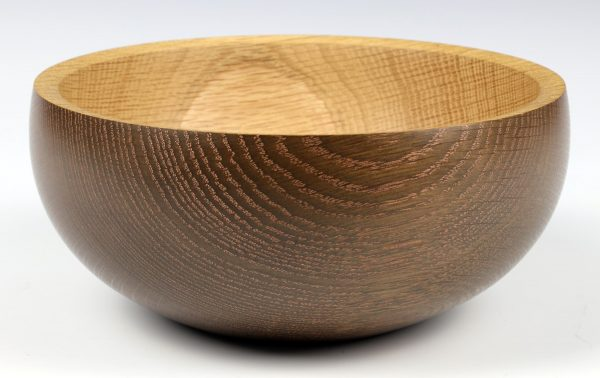 Ebonised oak bowl turned by Paul Hannaby creative woodturning
