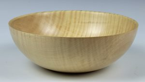 Rippled sycamore bowl turned by Paul Hannaby creative woodturning