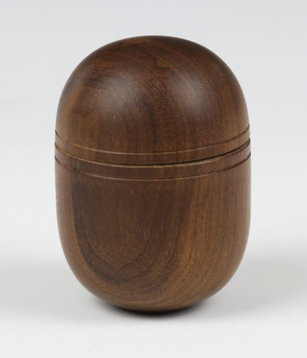 Indian rosewood capsule box turned by Paul Hannaby creative woodturning