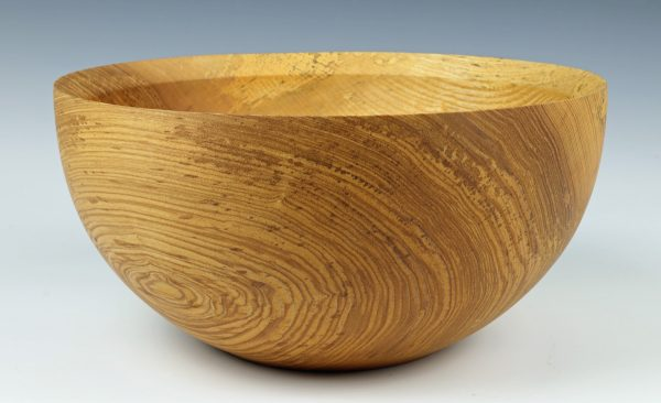 Olive ash salad bowl turned by Paul Hannaby creative woodturning