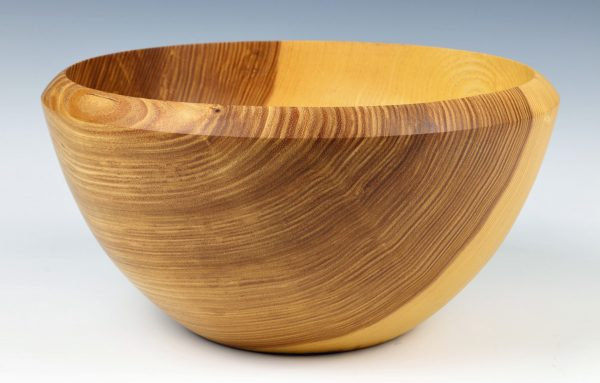 Olive ash salad bowl turned bu Paul Hannaby creative woodturning