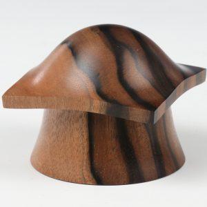 Striped ebony pagoda box turned by Paul Hannaby creative woodturning