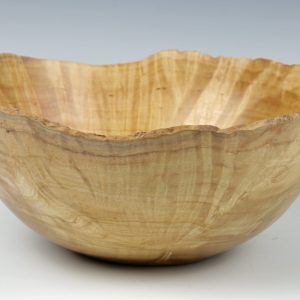 Natural edge silver birch burr bowl turned by Paul Hannaby creative woodturning
