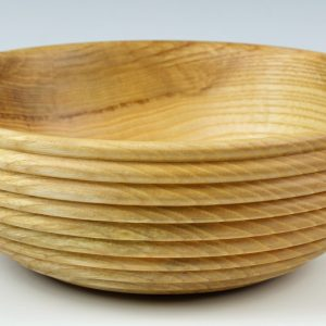 Beaded ash salad bowl turned by Paul Hannaby creative woodturning