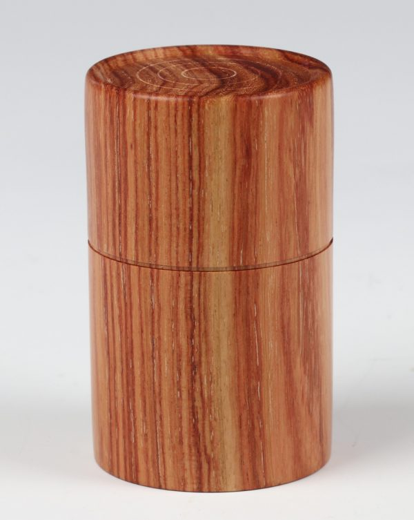 Brazillian tulipwood box turned by Paul Hannaby creative woodturning