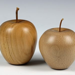Wooden apples turned by Paul Hannaby creative woodturning