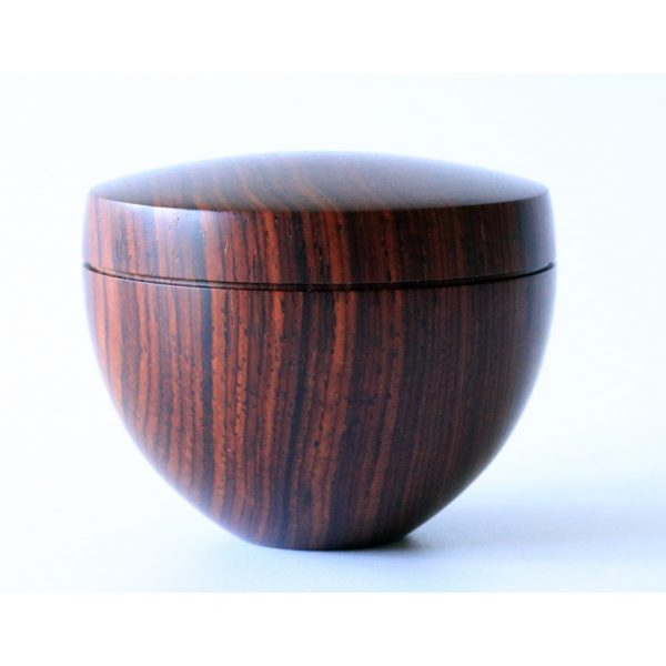 cocobolo threaded box by Paul Hannaby creative woodturning
