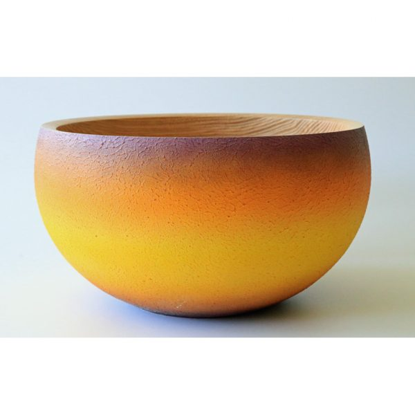 Coloured ash bowl turned by Paul Hannaby creative woodturning