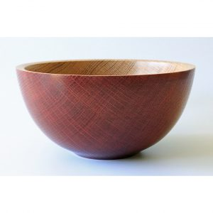 Coloured oak bowl turned by Paul Hannaby creative woodturning