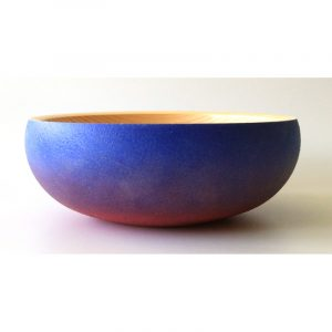Coloured pine bowl turned by Paul Hannaby creative woodturning