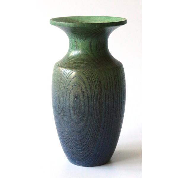 Coloured ash bud vase turned by Paul Hannaby creative woodturning